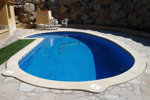 Pedra de piscina a mida