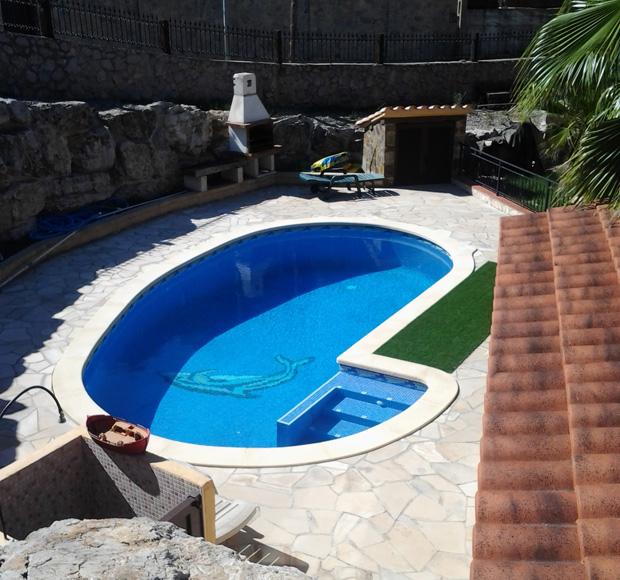 Piedra de piscina a medida